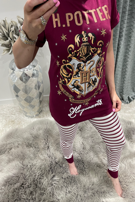 Ladies Wine Harry Potter Hogwarts PJ'S