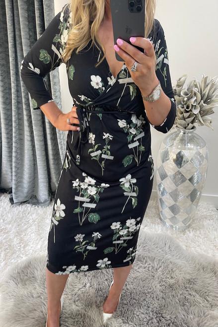 Maleha Floral Midi Dress