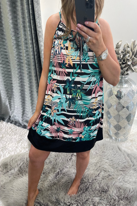 Black Vanessa Tunic Dress