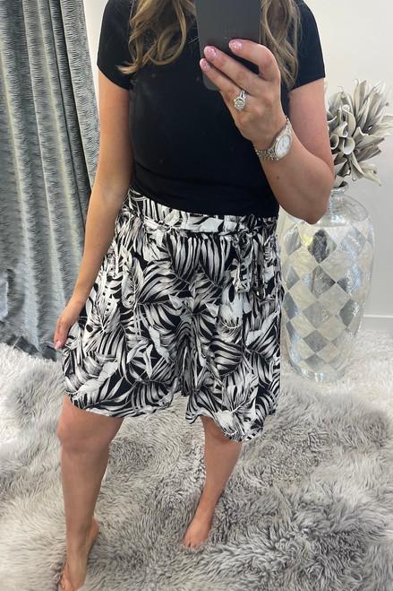 Clarita Black Floral Shorts