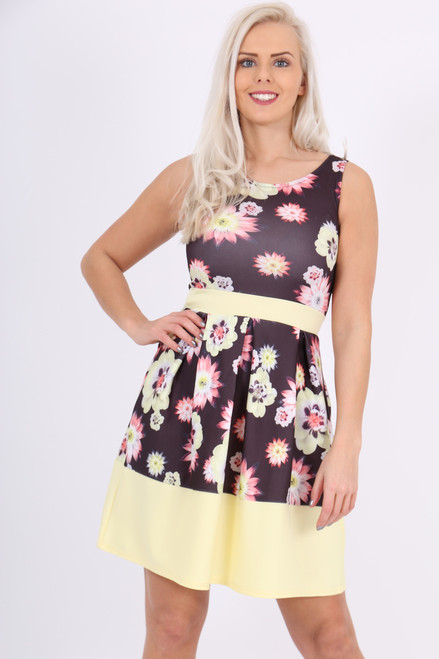 Sadie Flock Skater Dress - Want That Trend 72bbcbebb