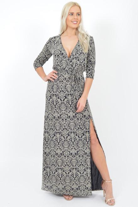 Evianna Paisley Glitter Maxi Dress