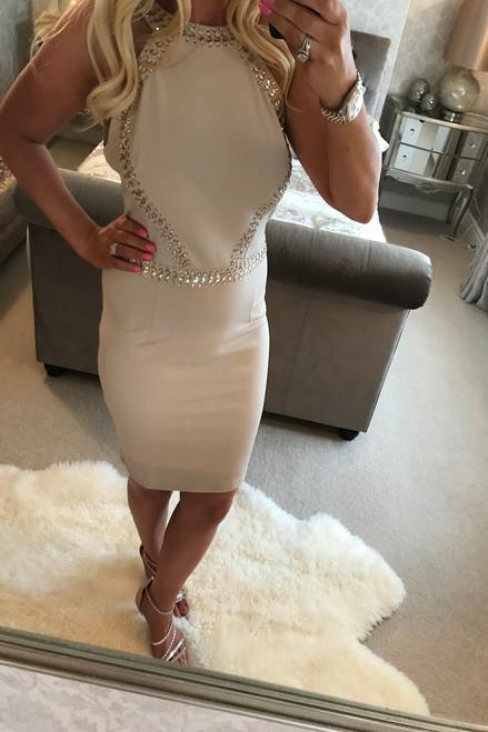 Lux Maya Stone Diamond Bodycon Dress