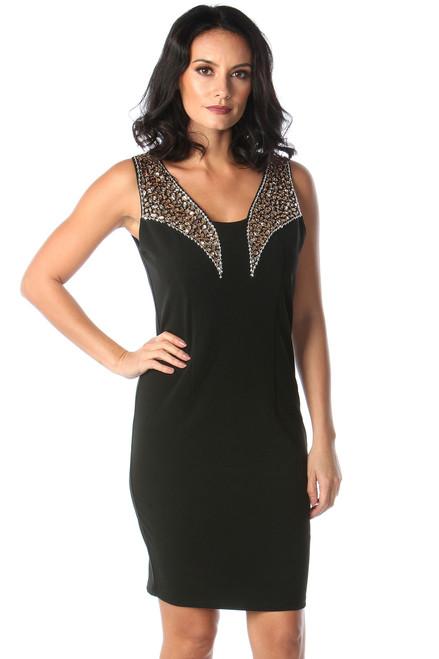 Lux Java Black Diamond Bodycon Dress