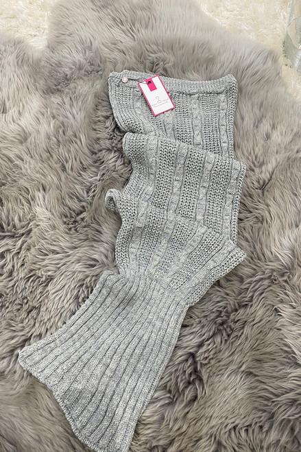 Luxury Ariel Grey Children's Mermaid Knitted Sleeping Bag