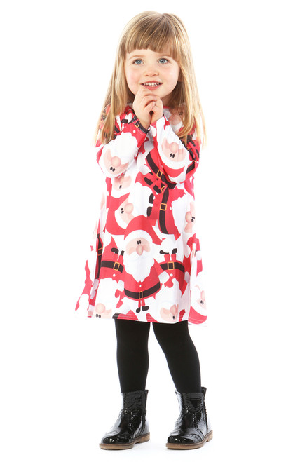 Children's Father Christmas Swing Dress