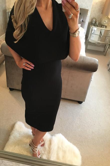Black Fiona Bodycon Dress