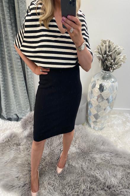 Monochrome Stripe Fiona Bodycon Dress