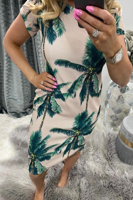Palm Tree Midi Dress
