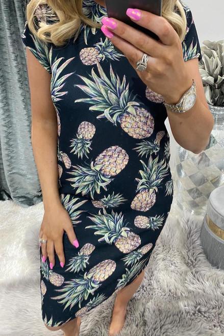 Pineapple Midi Dress