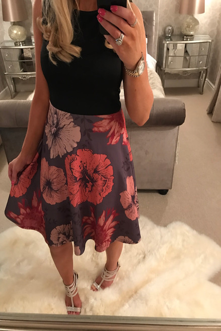 Libby Contrast Skater Dress