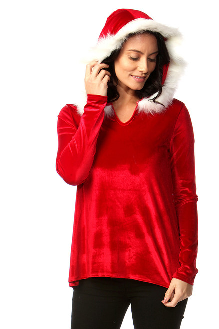 Luxury Velvet Santa Hoodie