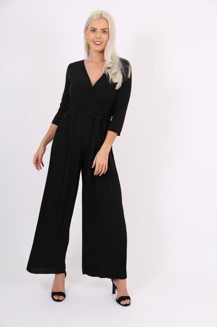 Black Ayana Pleated Jumpsuit