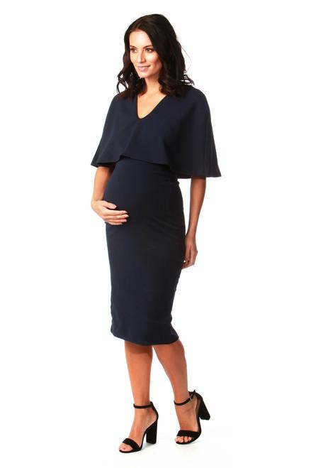 Maternity Navy Fiona Bodycon