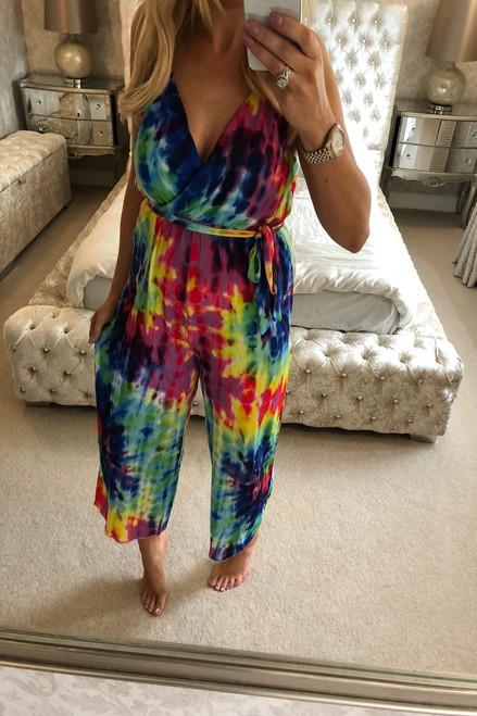 Multi colour Tye Dye Jumpsuit