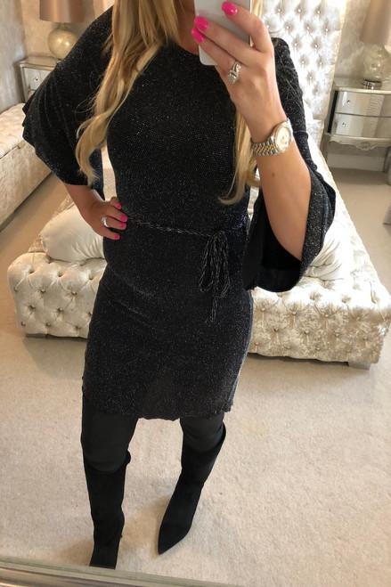 Black Sparkle Tunic Dress