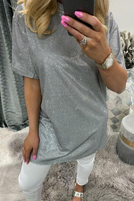 Ashley Silver Shimmer Top.