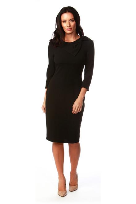 Black Ashley Bow Dress