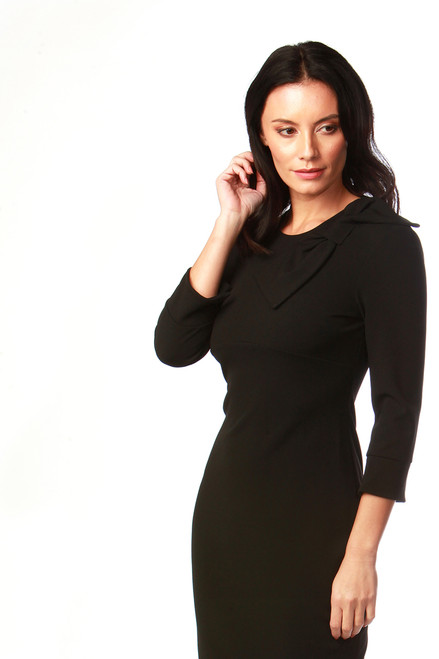 Black Ashley Bow Dress