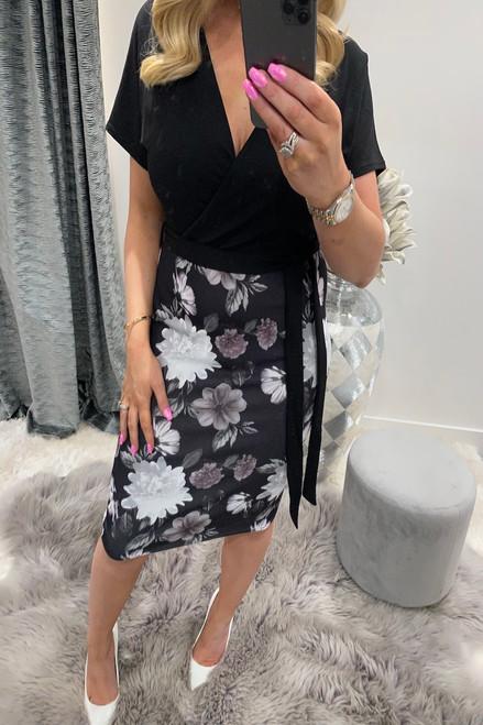 Black Starlene Bodycon Dress