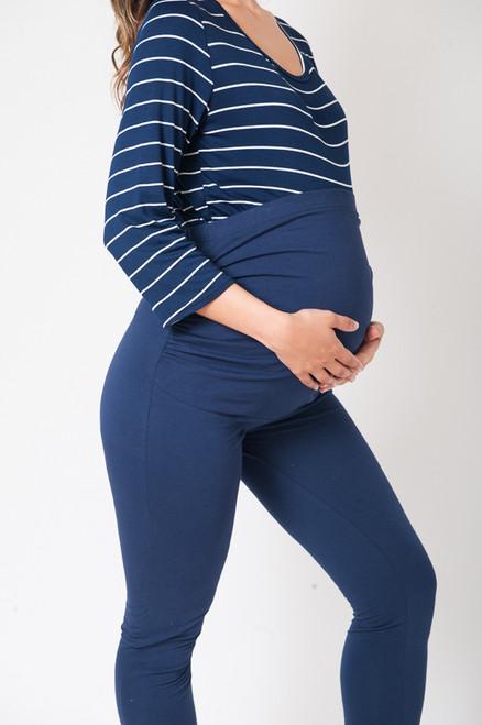 Maternity Navy Cotton Leggings