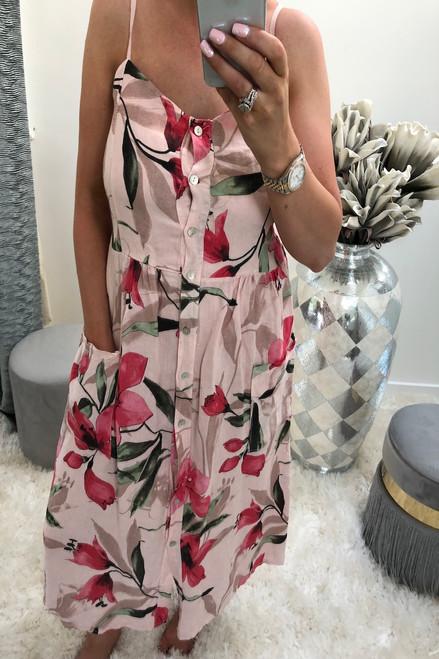 Pink Torlana Midi Dress