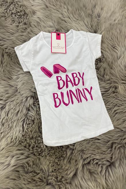 """Matching Children's """"Baby Bunny"""" White T-shirt"""