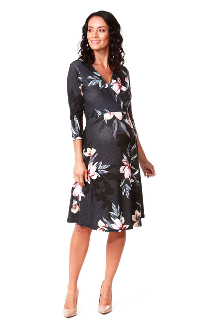 Maternity Lily Pad Floral Skater Dress