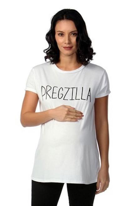 Maternity White 'Pregzilla' T-Shirt