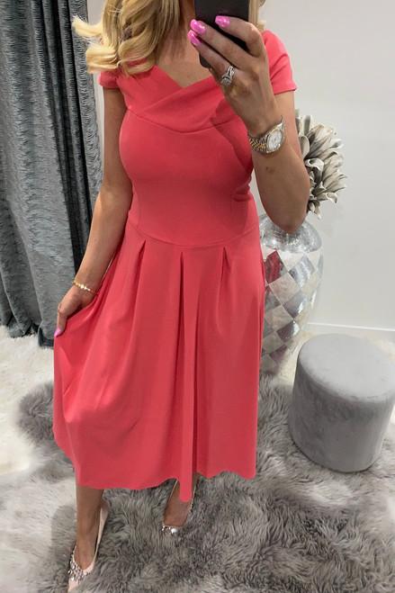 Naraya Pink Skater Dress