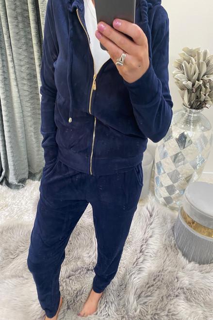 Navy Velour Loungesuit
