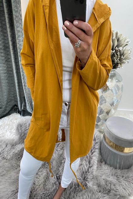 Mustard Open Hoody