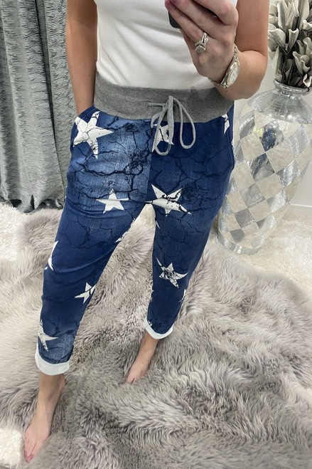 Cracked Dark Star Drawstring Joggers