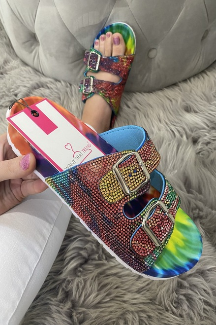 Rainbow  Buckle Diamond  Sliders