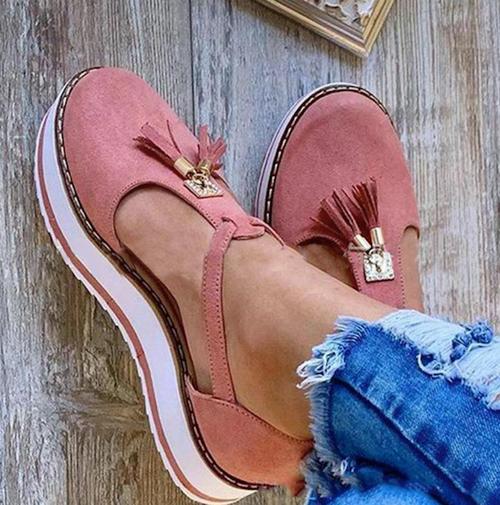 Chelsea Pink Tassel  Sandal