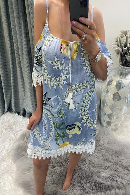 Light Paradise Cold Shoulder  Dress