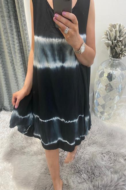 Black Tie Dye Summer  Dress