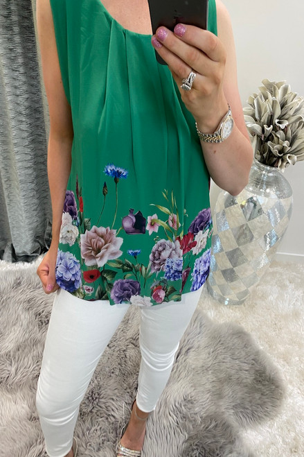 Green Coast Floral Blouse