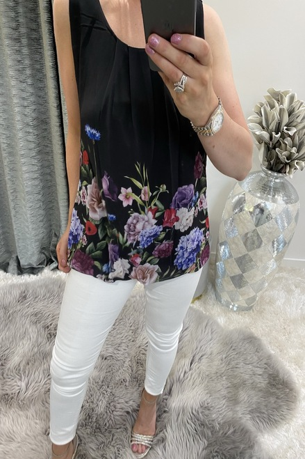 Black Coast Floral Blouse