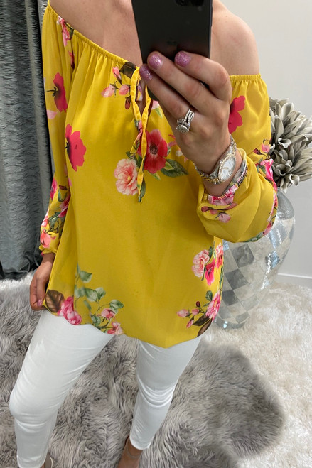 Clarissa Yellow Floral Blouse