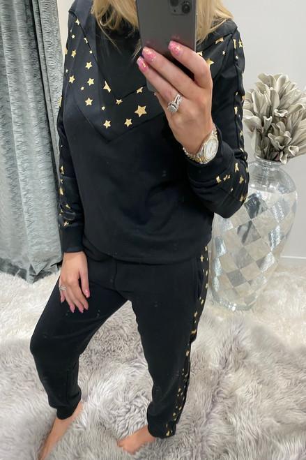 Luxury Black Star Loungesuit