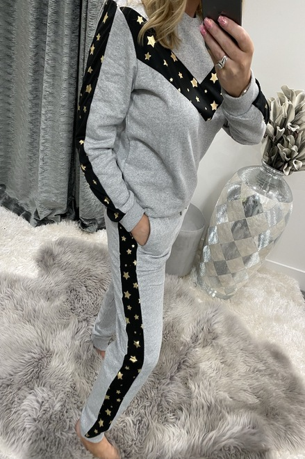 Luxury Grey Star Loungesuit