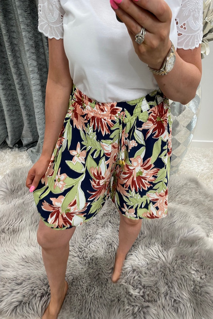 Remi Navy Floral Shorts