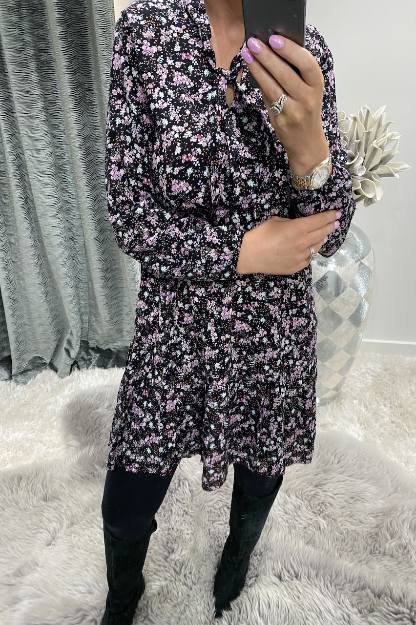 Lois Pink Floral Tunic Dress