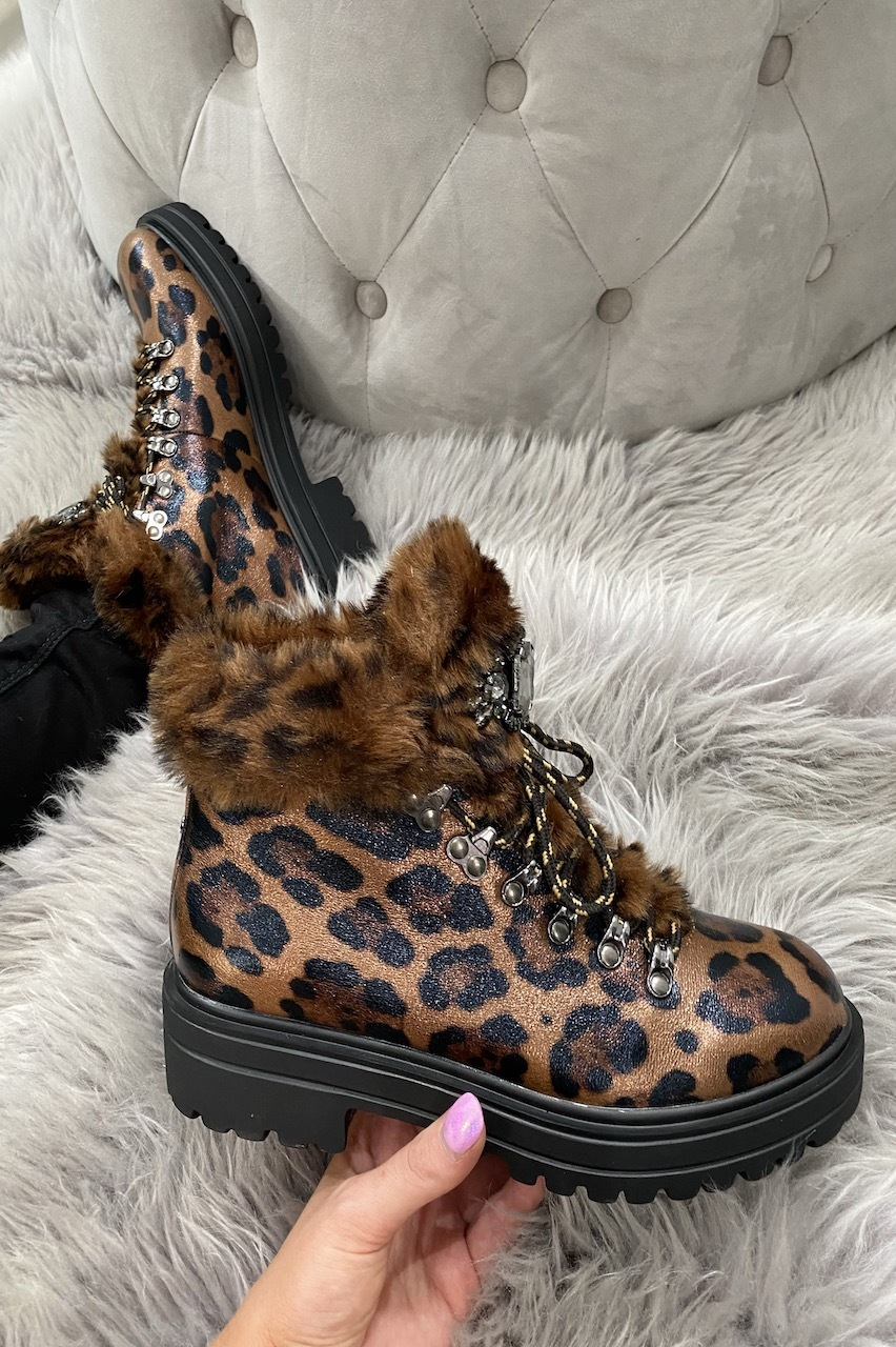 Valence Leopard Diamond Boots.