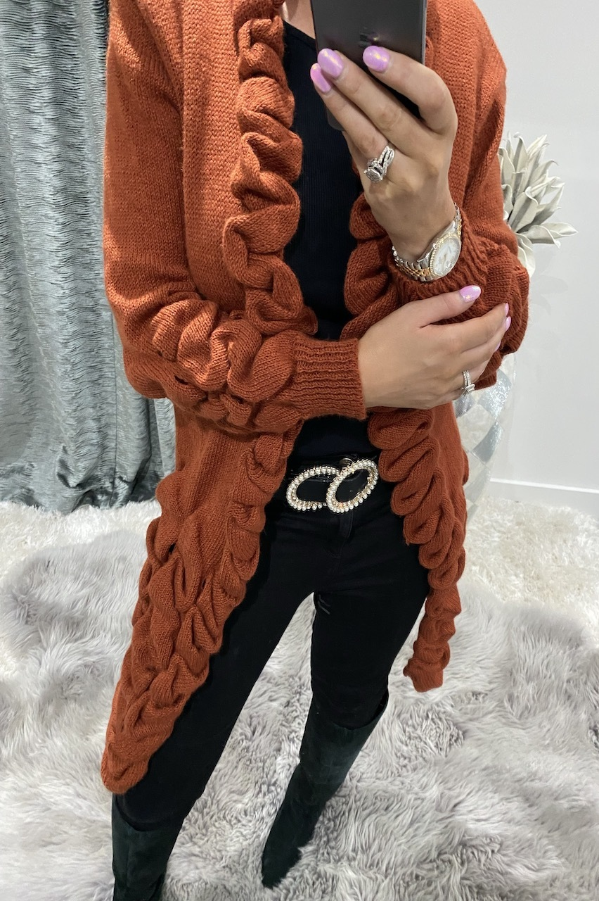 Rust Antoneli Knitted Cardigan
