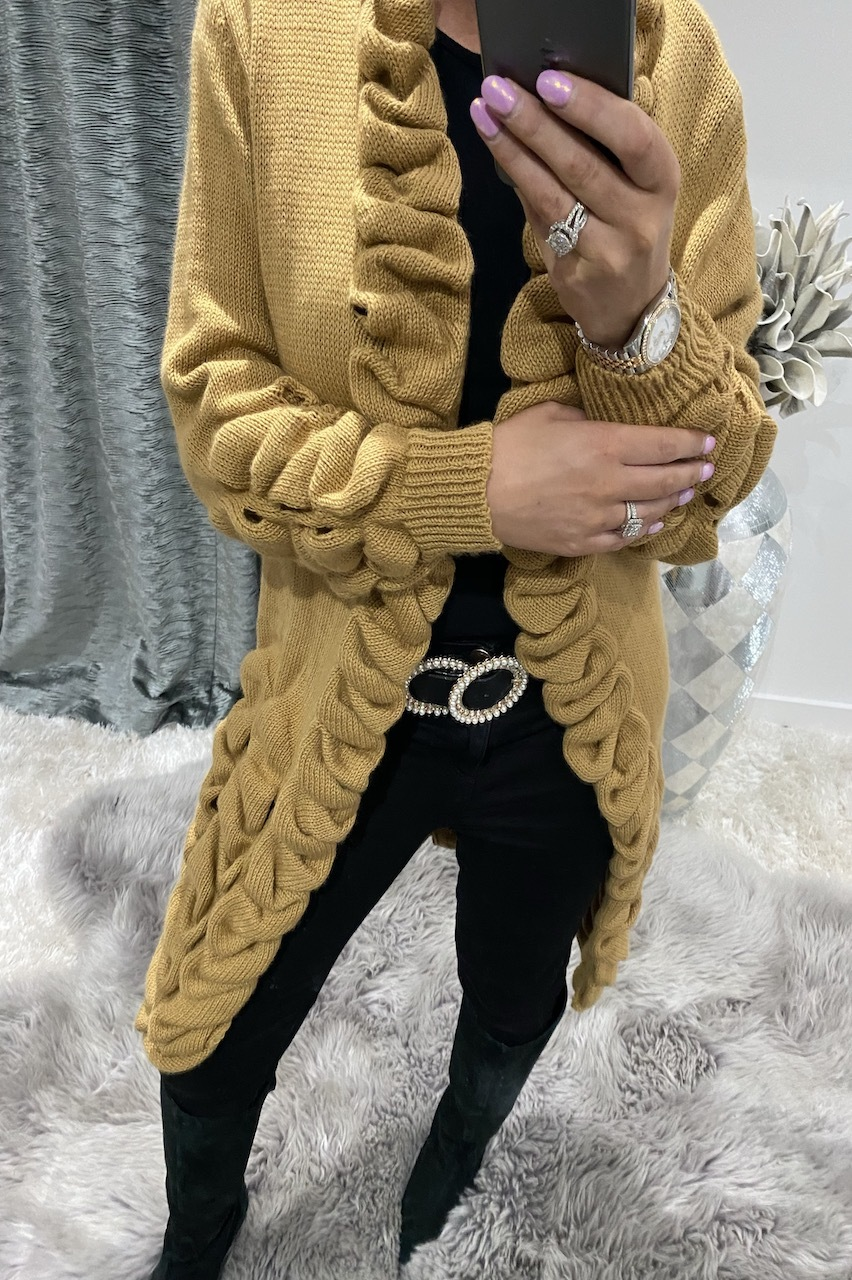 Tan Antoneli Knitted Cardigan
