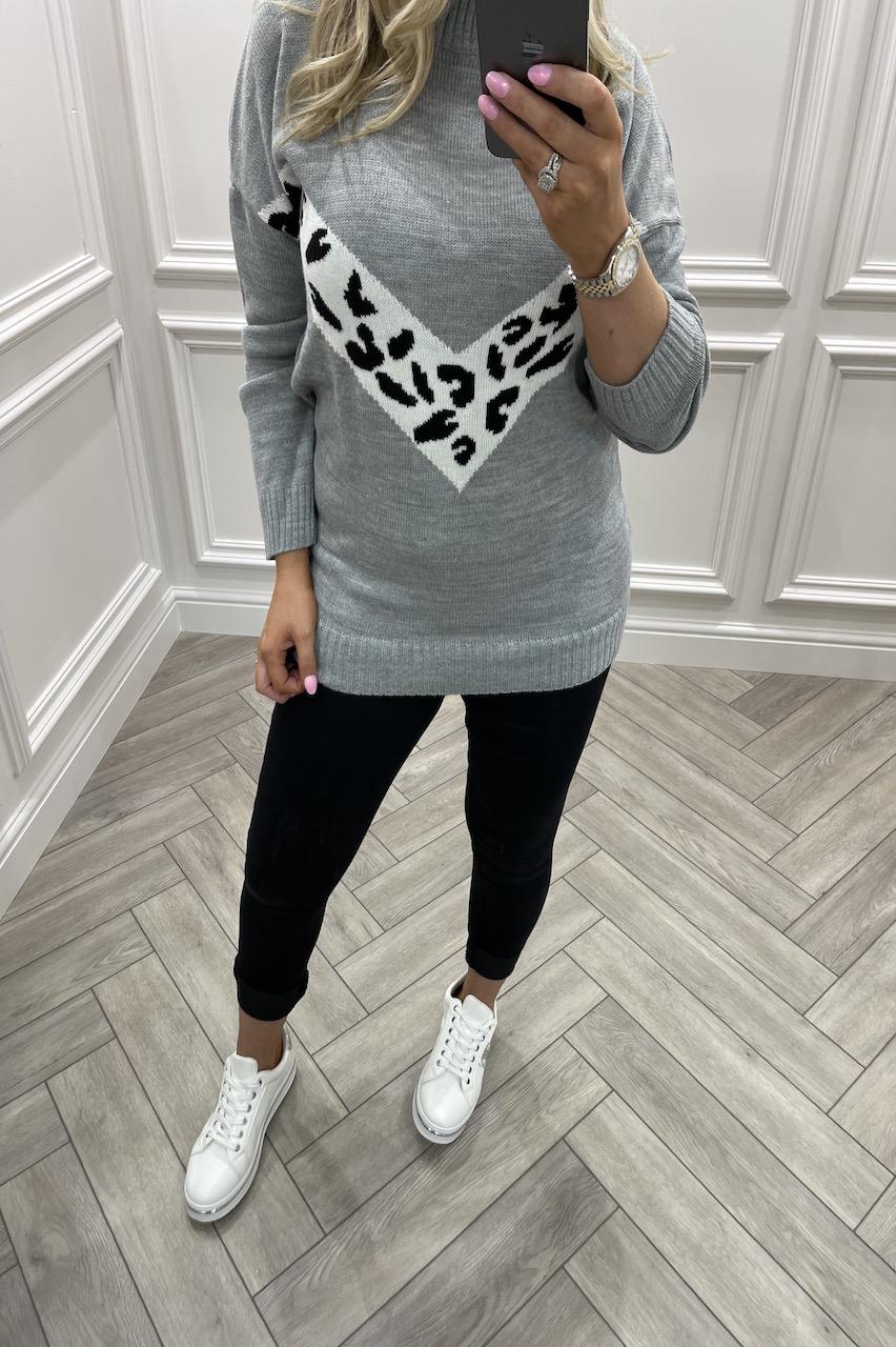 Mariola Grey Knitted Jumper