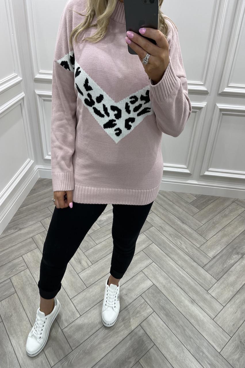 Mariola Pink Knitted Jumper