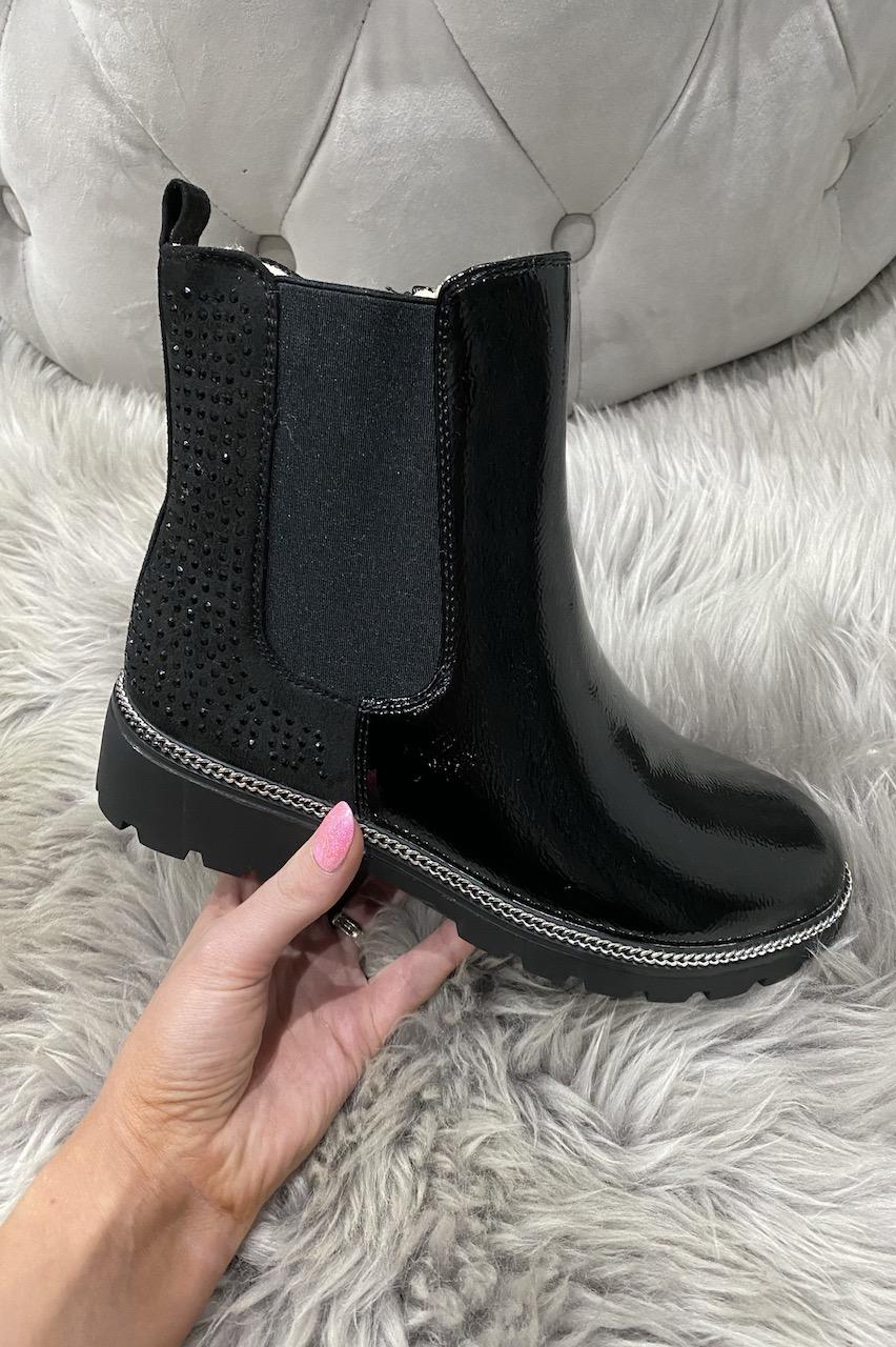 Mattone Sparkle Chelsea Boots wirh Fur